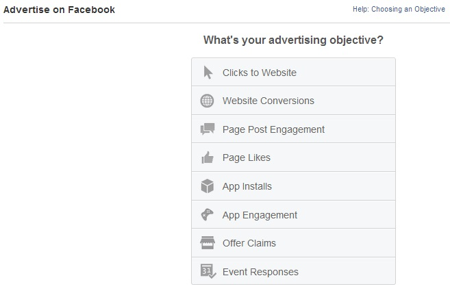 Advertise on Facebook, Create an Ad Page