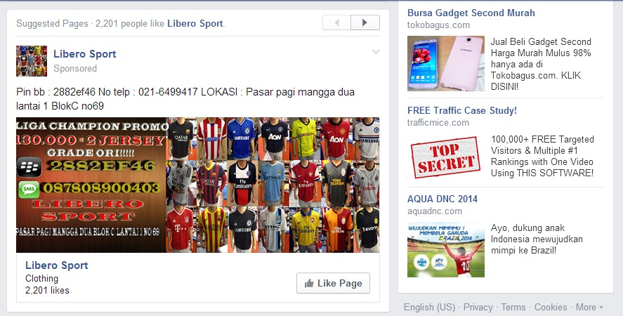 The News Feed Ad dan The Right Colomn Ad Saat Ini