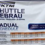 KTM Shuttle Tebrau Schedule