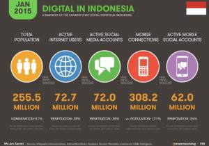 Pertumbuhan Cloud Computing di Indonesia, User Digital in Indonesia 2015
