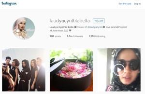 Laudya Cynthia Bella Instagram