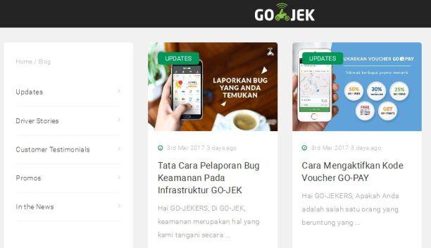 Blog pengemudi aplikasi online