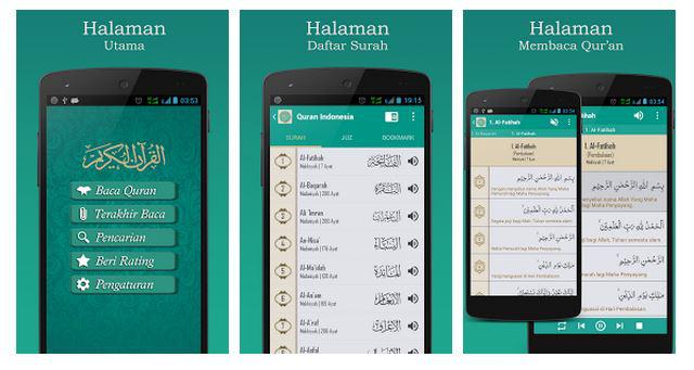 Daftar Aplikasi Baca Al Quran Untuk HP Android Terbaik 2018